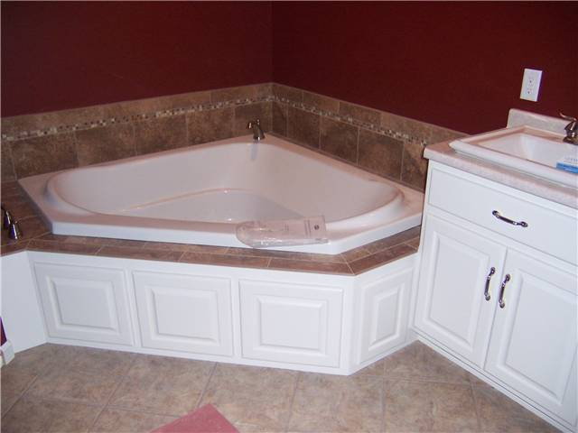 Painted tub access panels - Raised panel doors - Standard overlay style