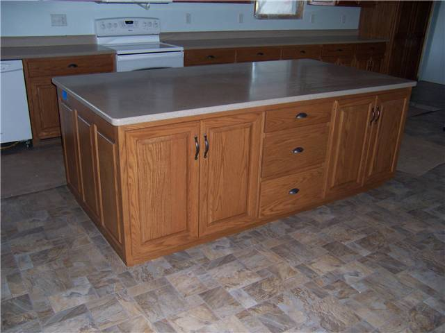Red oak wood with medium red-brown stain
