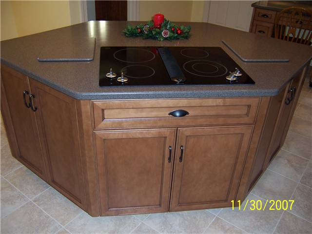 Corian solid surface island countertop