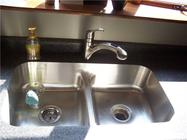 Laminate countertop with a stainless undermount sink