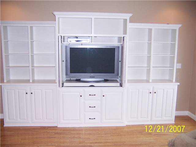 Entertainment center/Bookshelves/Storage - painted