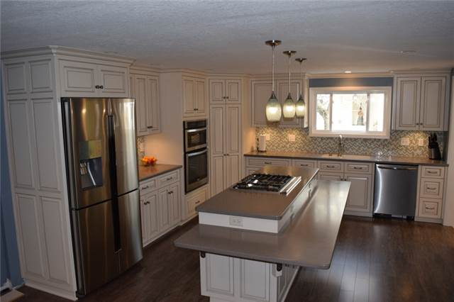 Painted & glazed cabinets - full overlay style - Corian countertops