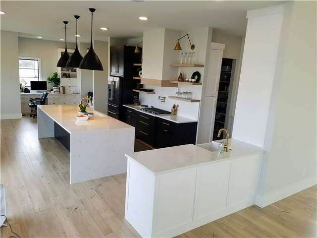 Painted cabinets - Quartz countertops