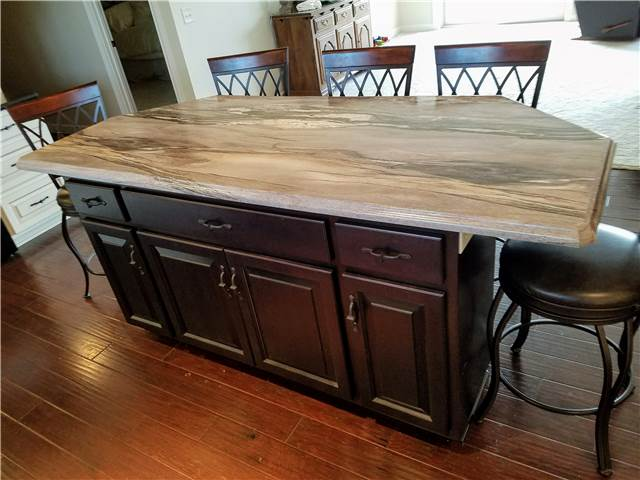 Stained island - laminate countertop