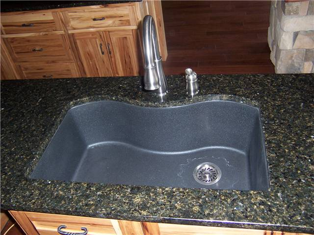 Granite countertop with a composite undermount sink