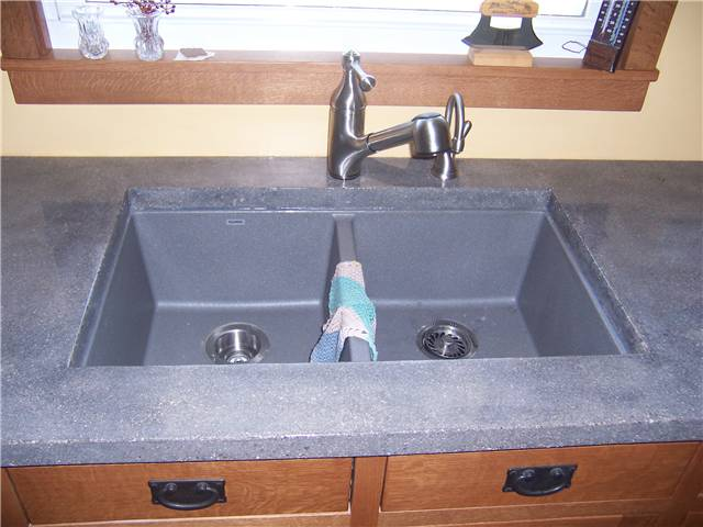 Concrete Countertop With A Composite Undermount Sink