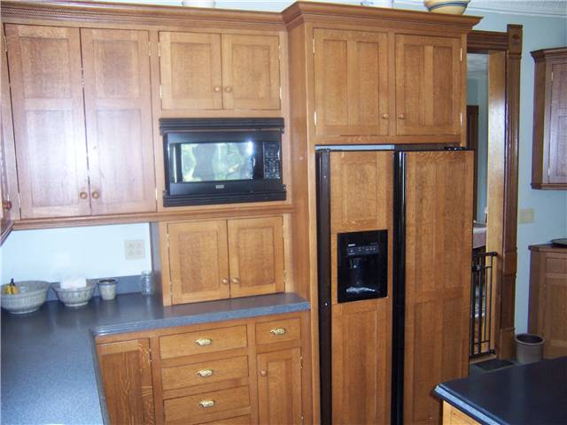 Custom wood refrigerator panels