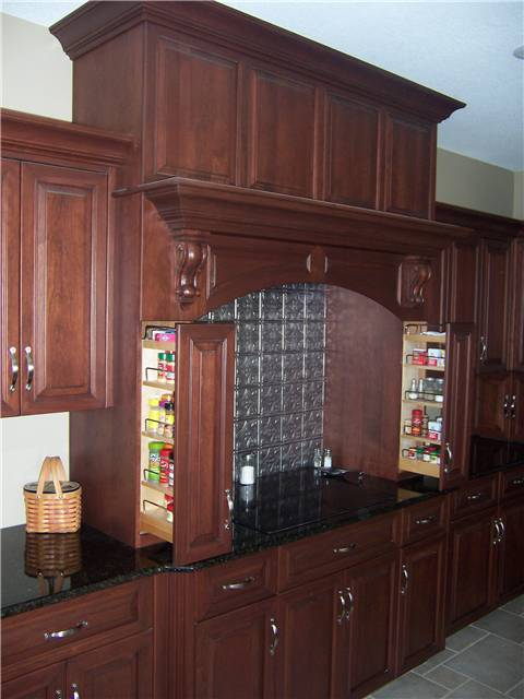 Pull-out spice racks