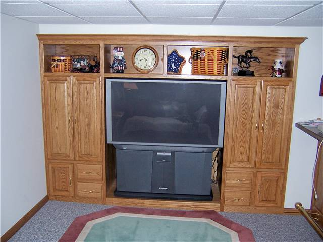 Home theater - stained oak