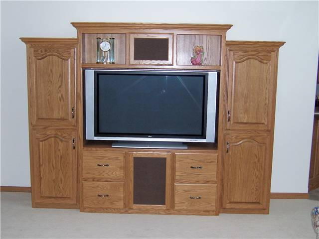Home Theater   Stained Oak