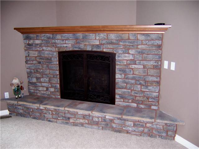 Fireplace Mantel - stained maple