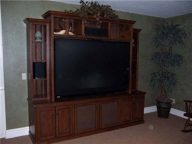Home Theater - Hickory stained and glazed
