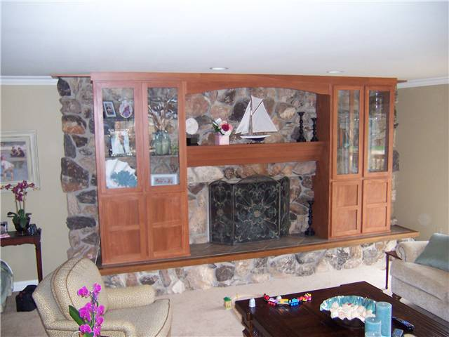 China cabinet/Mantel - stained poplar