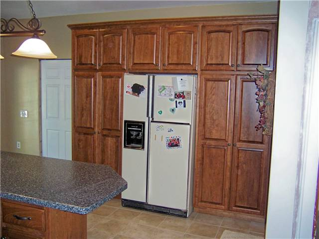 Cherry pantry cabinets - Raised panel doors - Standard overlay style