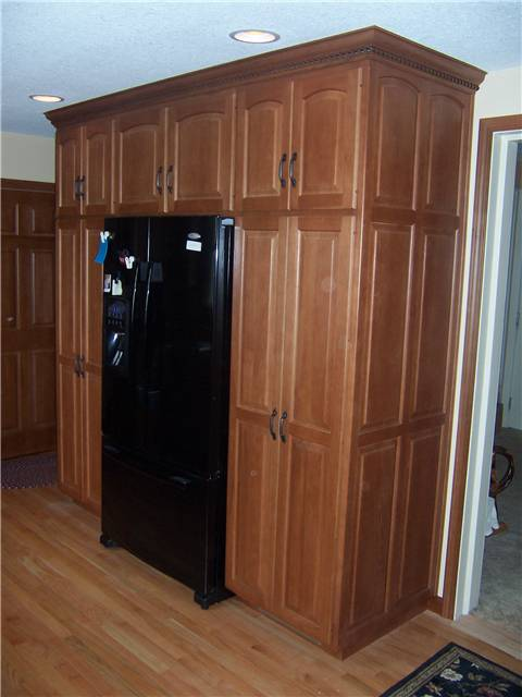Hickory cabinets - Raised panel doors and side panels - Standard overlay style