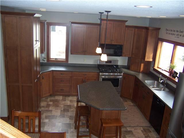 Custom Unfinished Flat Panel Oak Kitchen Cabinet Doors | eBay