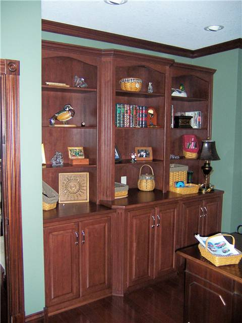 Hickory library/storage cabinets