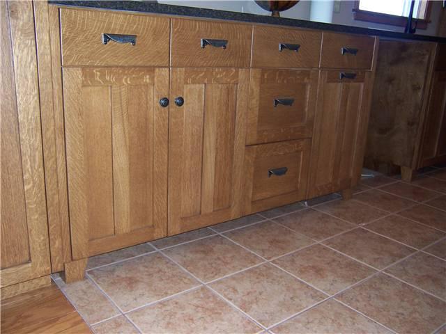 Quartersawn White Oak Wood With Medium Brown Stain